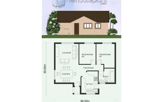 2 Room House Plans South Africa Flat Roof Design Nethouseplansnethouseplans In 2021 2 Room House Plan Bedroom House Plans Small House Floor Plans