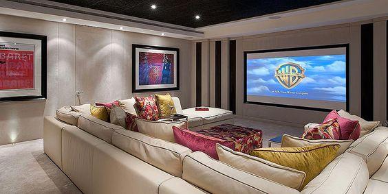 U-shaped sofa...two corner sofas together...awesome idea!!!