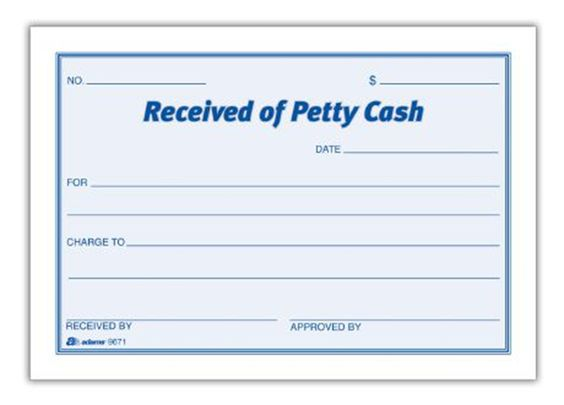 Petty Cash Receipt Pad Set of 16 Accounting Pinterest – Petty Cash Receipt Template