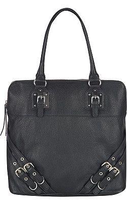 Pelle Studio Shrunken N/S Leather Tote w/ Buckles - Wilsons Leather, $149.99