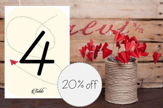 KIT MATRIMONIO offerta speciale - 20% di sconto, numeri tavolo, barattoli corda…