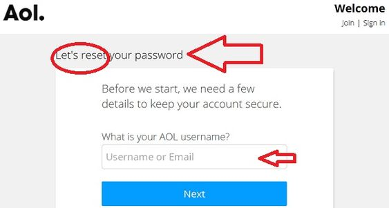 "How To Reset Aol Mail Password- Lets reset your password"" page"