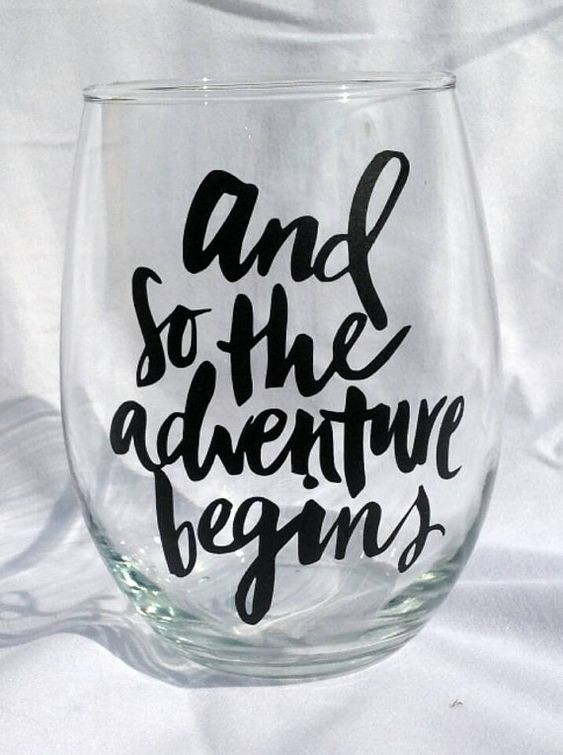 And so the Adventure Begins - Stemless Wine Glass - 20 oz