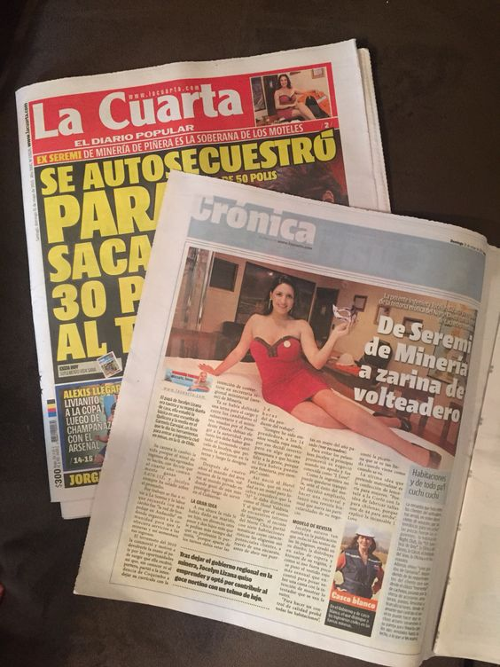 Reportaje sobre Hotel Fantasía (desde momentos de amor a vacaciones y lunas de miel de fantasía) Diario La Cuarta 31-05-2015