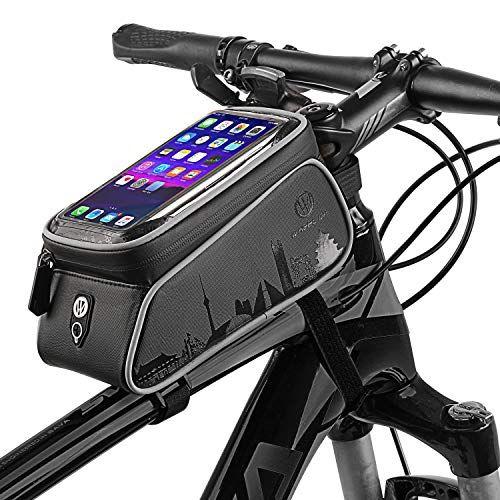 Vélo Avant Haut Tube Touchscreen Cyclisme Cadre Panier Téléphone Cellulaire Sac