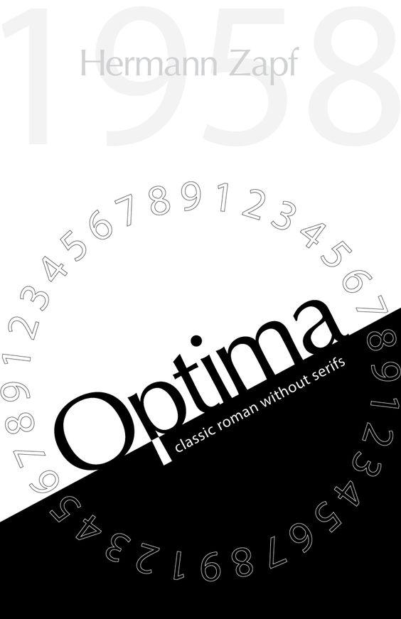 Optima Minimal Font Poster by Amanda Ryan