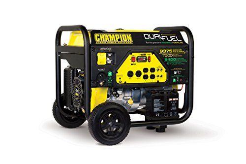 Champion Power Equipment 71531 Carb Compliant Dual Fuel Portable Generator 9375 Watt Champion P Dual Fuel Generator Portable Generator Best Portable Generator