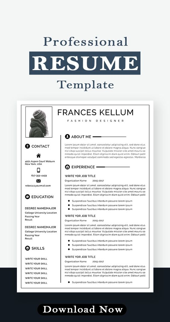Resume Template Instant Download Professional Resume Etsy In 2021 Downloadable Resume Template Resume Template Word Free Resume Template Word