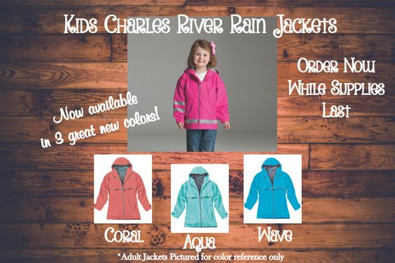 Monogrammed Rain Jacket - Personalized Child Sizes by DesignsbyDaffy on Etsy