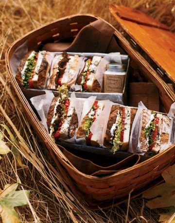 Yummy picnic sandwiches - outside area : have buyable picnic selections: