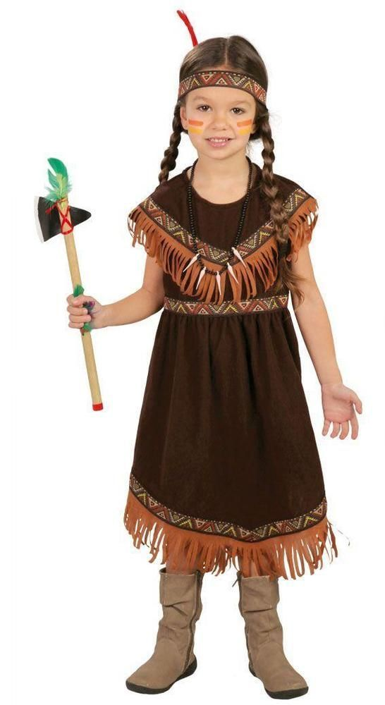 Western Kinder Kostüm Indianerin Karneval Fasching WIL
