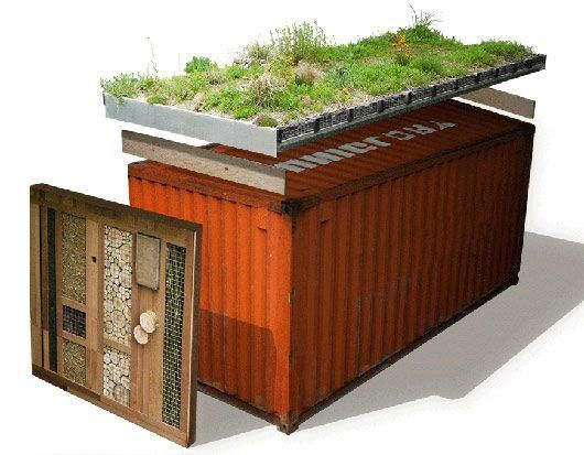 An Eco Friendly Roof Is Basically A Roof Top That Is Covered In Herbs Which Actually Minimizes Storm Container House Container House Design Shipping Container