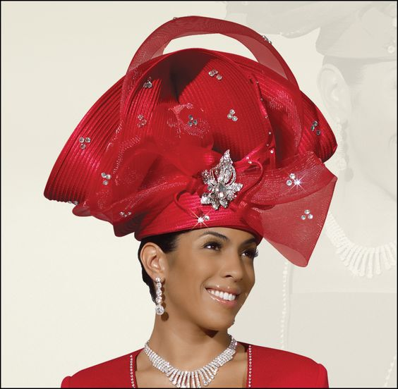 fancy church hats gorgeous elegant special occasion red