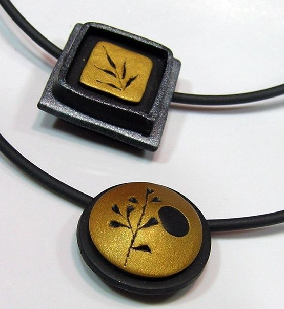 (jsg): These cutout pendants have a wonderful simplicity and elegance. I especially like the round one. Not sure what I think of the recessed square, but I love the simplicity of the fern design. Very easy to do this style of layers.