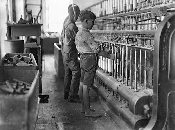 Children were forced to work in factories and were often ...