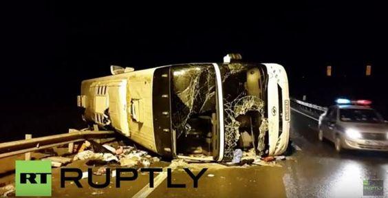 Şapte morţi şi 48 de răniţi într-un accident de autocar în Rusia - http://www.eromania.org/sapte-morti-si-48-de-raniti-intr-un-accident-de-autocar-in-rusia/