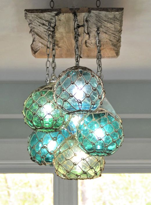 Blue Lamps Lighting Ideas For Coastal
