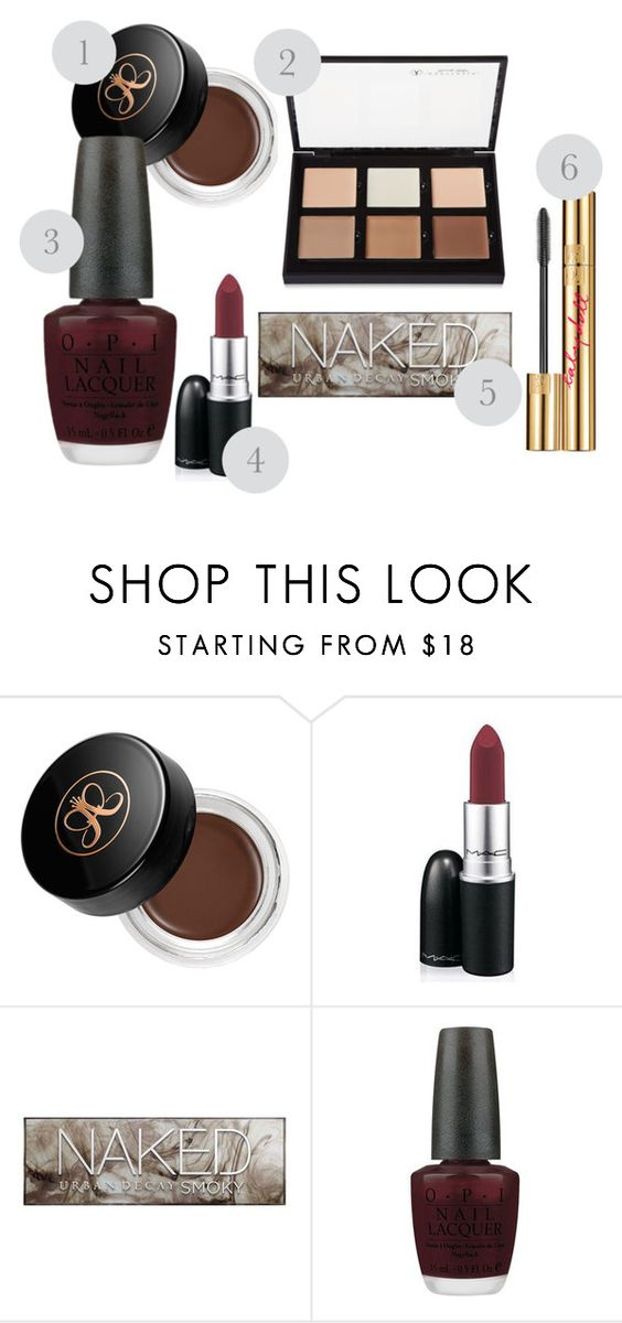 """""""Autumn makeup"""" by johannaeng on Polyvore featuring beauty, Anastasia Beverly Hills, MAC Cosmetics, Urban Decay, OPI and Yves Saint Laurent"""