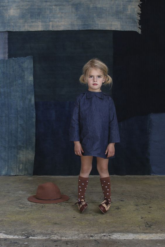 knee-high socks in toffee dot- for the wee ones- kids fashion- for the girls- littles: