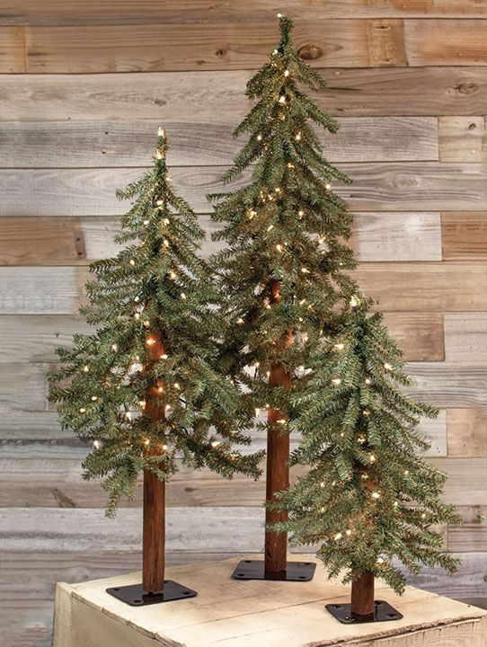 2 Ft 3 Ft And 4 Ft Artificial Alpine Trees Decorate These Trees For Christm Country Christmas Decorations Christmas Tree Decorations Christmas Decorations