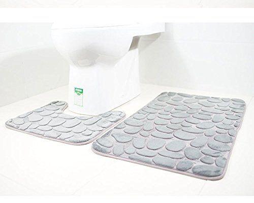 Paramount City Tapis De Toilette Et Tapis De Bain 2 Pieces Microfibre Polyester Dos En Caoutchouc Antiderapant En 2020 Tapis De Bain Idee Salle De Bain Tapis