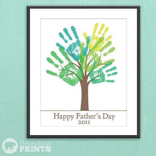 Happy Father's Day Handprint Plaque