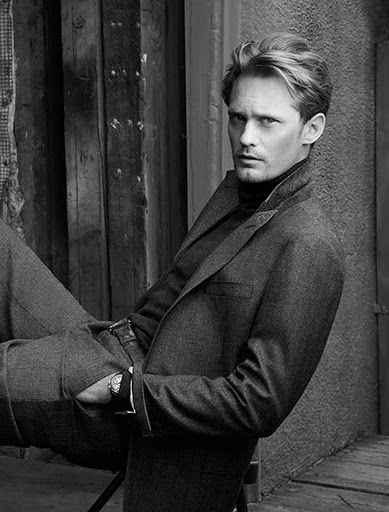 Alexander Skarsgard photographed by Annie Leibovitz.for Hickey Freeman's Fall 2010 advertising campaign.