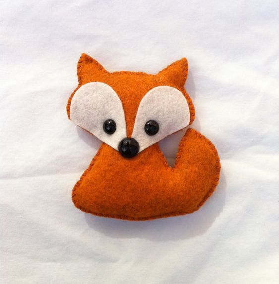 wool felt fox plush toy / christmas ornament / baby by feltloved