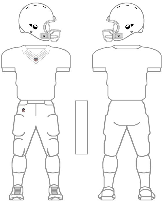 printable NFL football jersey template - Google Search