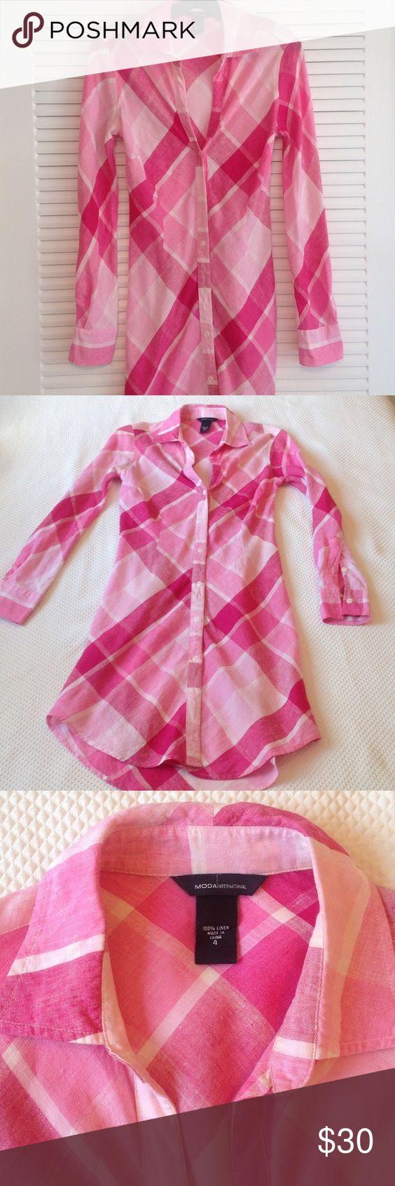VICTORIA SECRET DRESS. 100% linen. Size 4. Length 38 inches. Waist 15 inches. Victoria's Secret Dresses