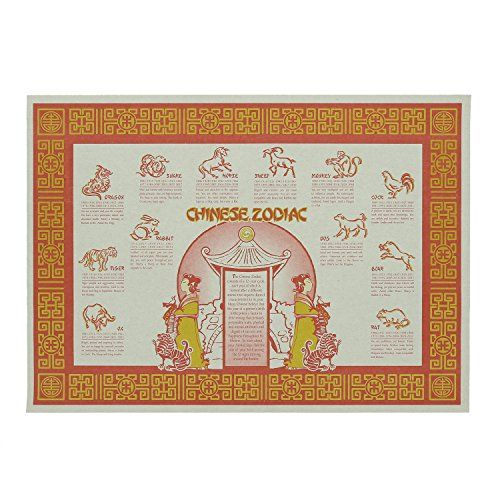 Royal Chinese Zodiac Disposable Placemats Package Of 100 Https Smile Amazon Com Dp B010res46k Ref Cm Sw R A Christmas Story Nature Themed Chinese Zodiac