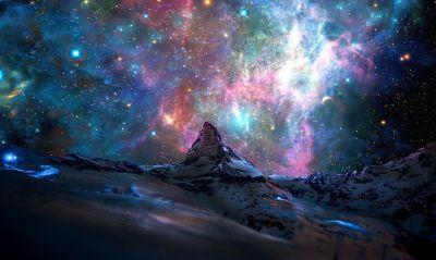 Oboi Kosmos Tumannost Svet Planety Zvezdy Kartinki Na Rabochij