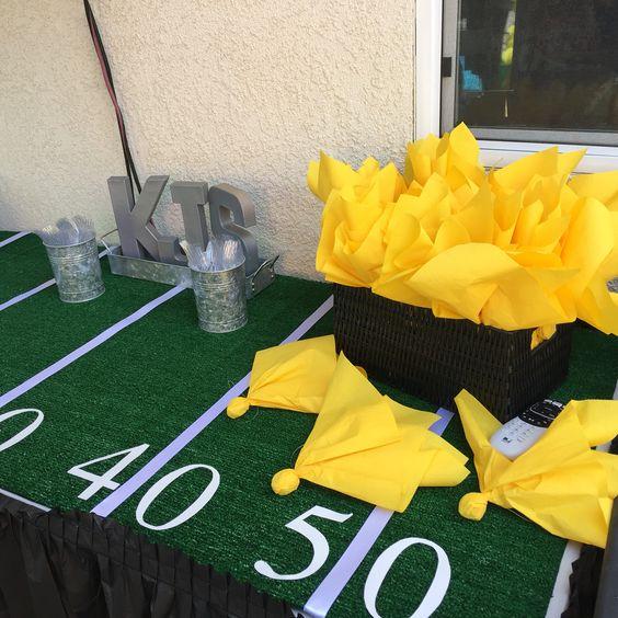 Penalty flag napkins Football baby shower