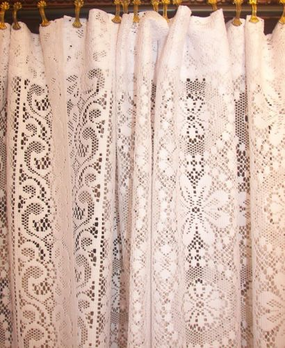 Lovely vintage white net lace curtains ...sweet! | Vintage Lace ...