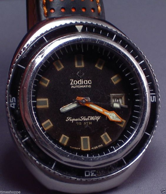 King of The Vintage Diver Watches Zodiac Super Sea Wolf 75 ATM A Monster WOW | eBay..
