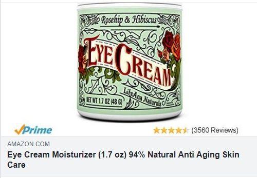 Eye Cream Moisturizer 1 7 Oz 94 Natural Anti Aging Skin Care Price 17 99 Natural Anti Aging Skin Care Eye Cream For Dark Circles Moisturizer Cream