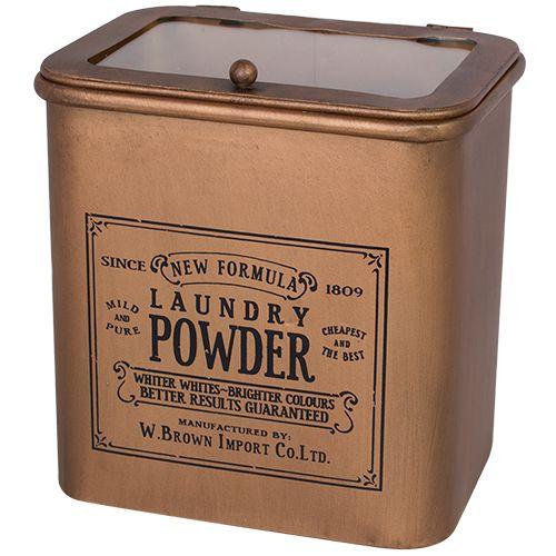 Enamel Retro Laundry Powder Tin Laundry Detergent Copper With
