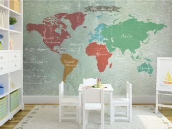 Pinterest el cat logo global de ideas - Papel pintado mapamundi ...