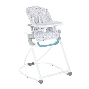 Chaise Haute Easy Compacte Chevrons Grise Chaise Haute Chaise