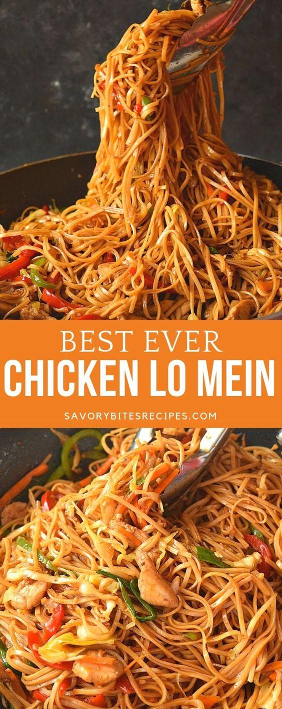 Best ever Chicken Lo Mein!