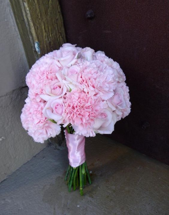 carnations wedding bouquet pink carnation bridal bouquet wedding bouquets flowers 2462