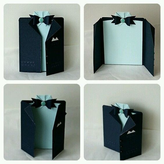 Fathers day jacket shirt suit handmade card | Ties, Suits ...