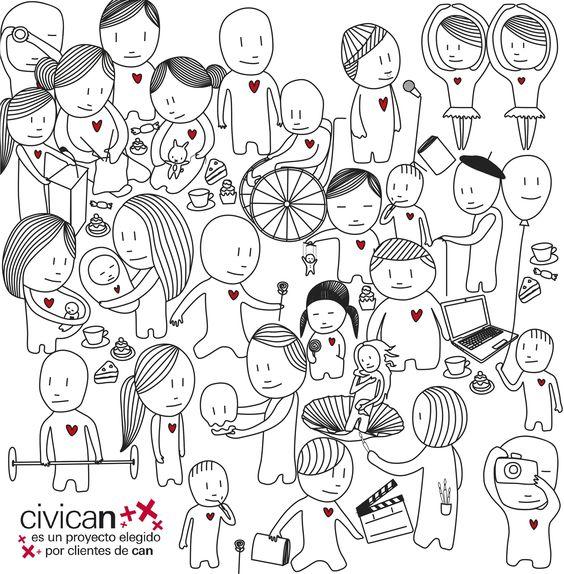 """Propuesta para el certamen de diseño gráfico """"Imagina Civican"""" 2011. Diseño de la imagen para la lona del edificio Civican. Diseño seleccionado para la exposición colectiva."""