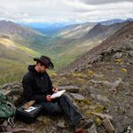 Geologist conducting research in Upper Riley drainage - #Denali #National_Park & #Preserve