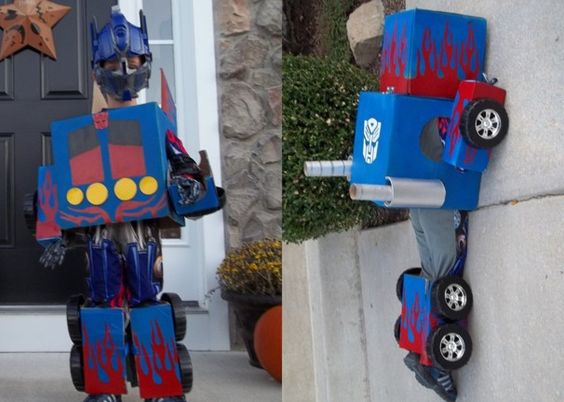Homemade Optimus Prime costume. I'm not even that into transformers and I think this is fantastic!