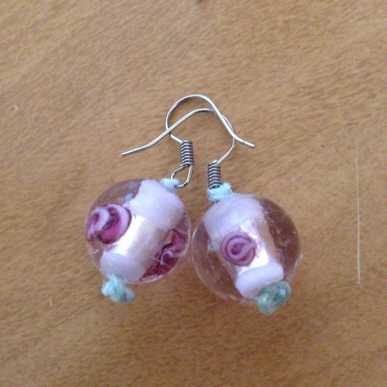 Rose pink beAd earrings
