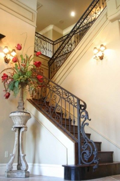 Best Iron Staircase Classic And Wrought Iron On Pinterest 400 x 300