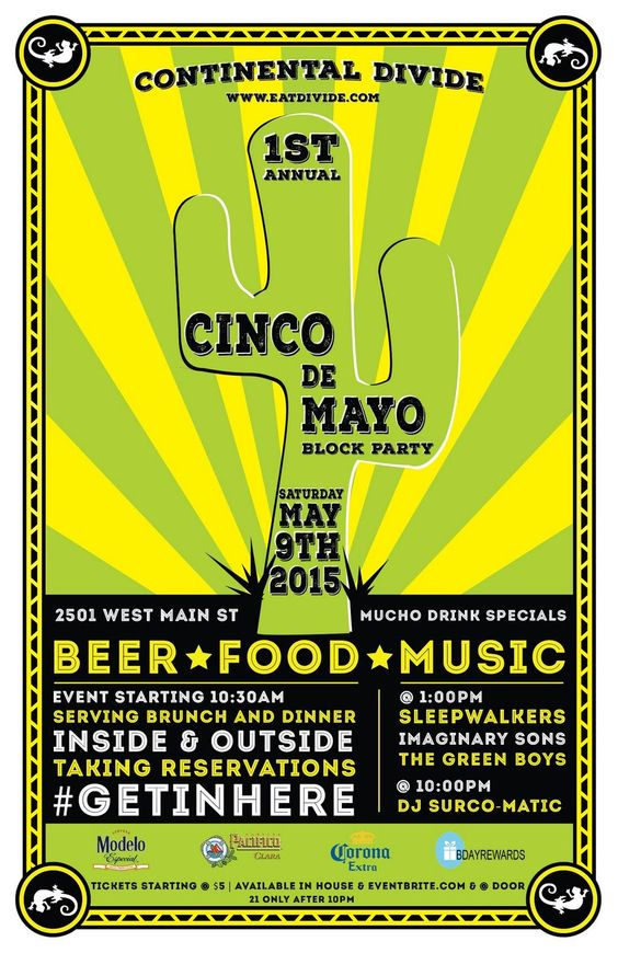 #Cincodemayo never has to end! All day Sat at @CDivideRVA Don't Miss it! @ImaginarySons @RVAmag #getinhere