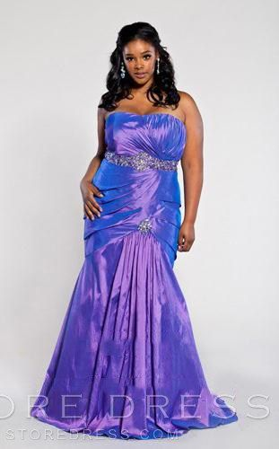 Strapless Ruched Sparkle Evening Gown at Storedress.com @Victoria Reyes