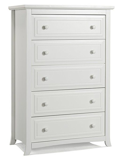 Graco Kendall 5 Drawer Chest White Kids Bedroom Dresser With 5